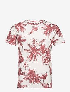 JORNATURE AOP TEE SS CREW NECK - kortärmade t-shirts - cloud dancer