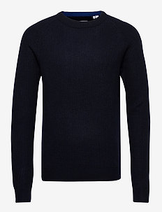 JJPANNEL KNIT CREW NECK - basic knitwear - sky captain