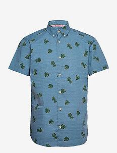JORRAZZ SHIRT SS SH - kortärmade skjortor - blue heaven