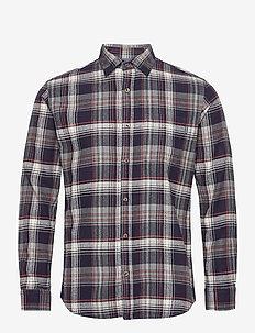 JPRBLUJAMIE SHIRT L/S ONE POCKET - rutiga skjortor - navy blazer