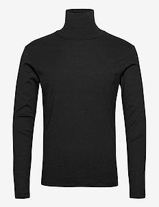 JPRBLARAY TEE LS ROLL NECK - t-shirts à manches longues - black