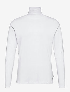 JPRBLARAY TEE LS ROLL NECK - perus t-paidat - white