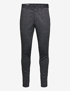 JJIMARCO JJPHIL JERSEY NOR DG CHECK NOOS - suit trousers - dark grey