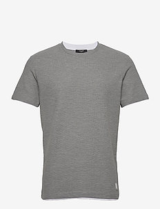 JPRBLATAYLOR TEE SS CREW NECK - basic t-shirts - light grey melange