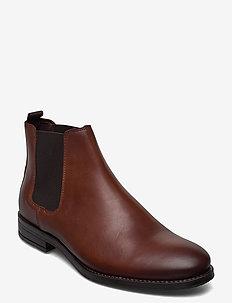 JFWJASON LEATHER CHELSEA COGNAC - chelsea boots - cognac