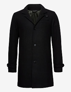JPRBLAMELTON WOOL COAT STS - wool coats - black