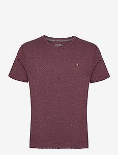 JPRBLUWILHELM TEE SS V-NECK - basic t-shirts - port royale