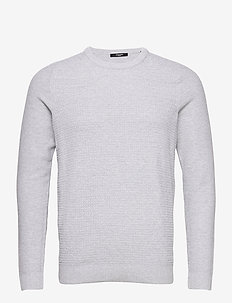 JPRBLAADAM KNIT CREW NECK STS - basic knitwear - cool grey