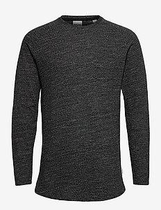 JCOOZIL TEE LS CREW NECK NOOS. - basis-t-skjorter - black melange