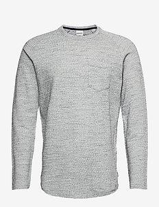 JCOOZIL TEE LS CREW NECK NOOS. - t-shirts basiques - white melange