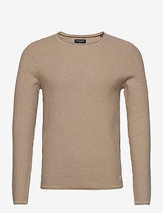 JPRBLUCARLOS KNIT CREW NECK NOOS - basic knitwear - oatmeal