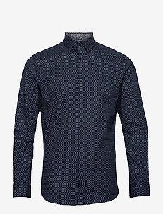 JPRBLAPIPING SHIRT L/S - basic skjortor - navy blazer