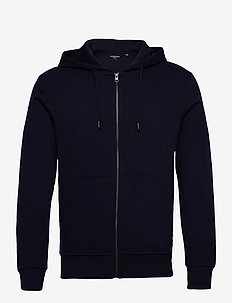 JJEBASIC SWEAT ZIP HOOD NOOS - hoodies - navy blazer