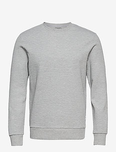JJEBASIC SWEAT CREW NECK NOOS - Överdelar - light grey melange