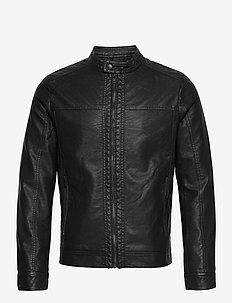 JJEWARNER JACKET NOOS - leather jackets - black