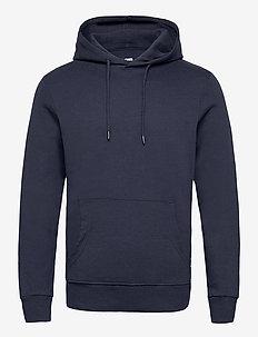 JJEBASIC SWEAT HOOD NOOS - hoodies - navy blazer