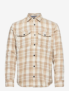 JPRBLUJASON OVERSHIRT L/S CPO - Överdelar - cloud dancer