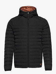 JJBASE LIGHT HOOD JACKET - padded jackets - black