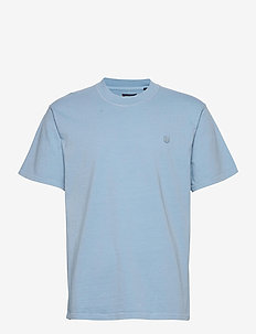 JPRBLUJULIO TEE SS CREW NECK - basic t-shirts - dusk blue