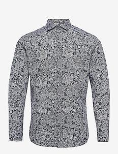JPRBLAOCCASION MINIMAL SHIRT L/S LTN - casual skjortor - dark navy