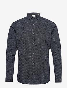 JPRBLAOCCASION MINIMAL SHIRT L/S LTN - casual skjortor - navy blazer