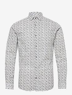 JPRBLAOCCASION MINIMAL SHIRT L/S LTN - casual skjortor - white