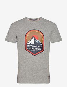 JORRIVER CREEK TEE SS CREW NECK - kortärmade t-shirts - light grey melange