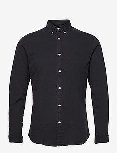 JPRBLALOGO STRETCH DENIM SHIRT L/S STS - basic skjortor - black denim