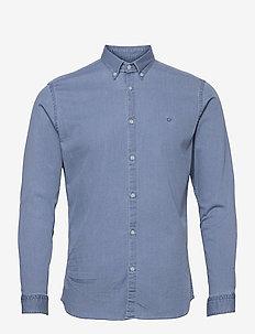JPRBLALOGO STRETCH DENIM SHIRT L/S STS - basic skjortor - light blue denim