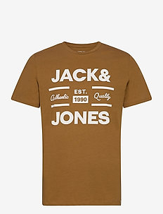 JOROLIVER TEE SS CREW NECK - kortärmade t-shirts - rubber