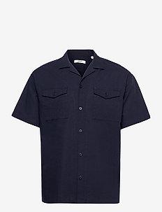 JPRBLASUMMER POCKET RESORT SHIRT S/S - basic skjortor - navy blazer