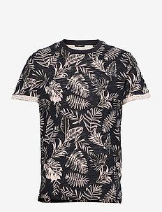 JPRBLABEACH SS TEE AOP LTN - kortärmade t-shirts - peach whip