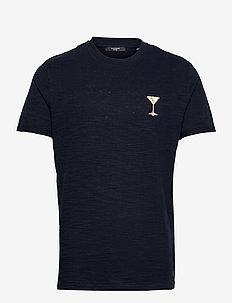 JPRBLABEACH SS TEE EMBROIDERY - basic t-shirts - new navy