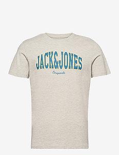 JORHART TEE SS CREW NECK LTN - kortärmade t-shirts - white melange