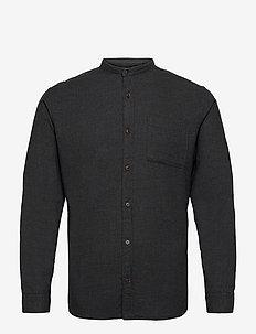 JJEBAND HEATHER  SHIRT L/S - basic skjortor - dark grey melange
