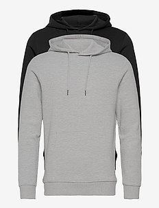 JJEBASIC SWEAT HOOD 2PK MP - hoodies - black