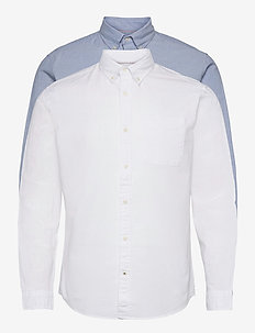 JJEOXFORD SHIRT L/S S21 2PK MP - basic skjortor - cashmere blue