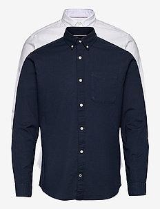 JJEOXFORD SHIRT L/S S21 2PK MP - basic skjortor - navy blazer