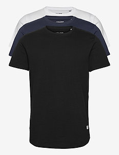 JJENOA TEE SS CREW NECK 3PK MP - kortärmade t-shirts - white