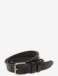 JACNARROW BELT LTN VEGETABLE TAN - skärp - black