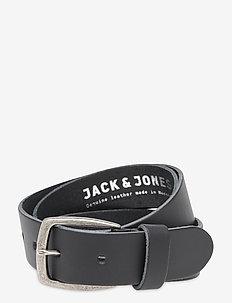 JACMICHIGAN LTN LEATHER BELT - belts - black