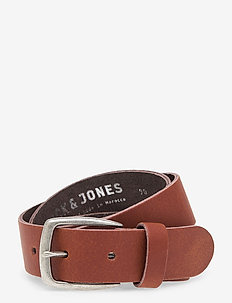 JACMICHIGAN LTN LEATHER BELT - skärp - cognac
