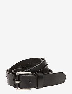 JACROYALE HANDSTITCH  LEATHER BELT - skärp - black