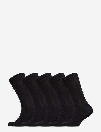 JACJENS SOCK 5 PACK - vanliga strumpor - black