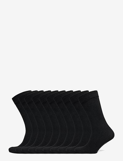 JACJENS SOCK 10 PACK - vanliga strumpor - black