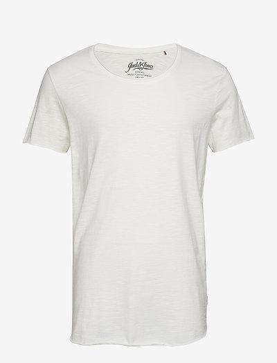 JJEBAS TEE SS U-NECK - basic t-shirts - cloud dancer