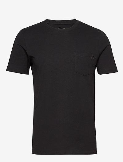 JJEPOCKET TEE SS O-NECK - basic t-shirts - black