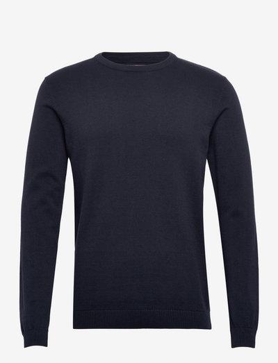 JJEBASIC KNIT CREW NECK - basic strik - navy blazer