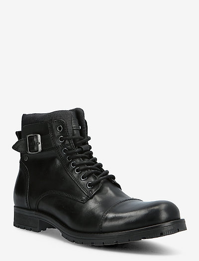 JFWALBANY LEATHER ANTHRACITE SN - med snøre - anthracite