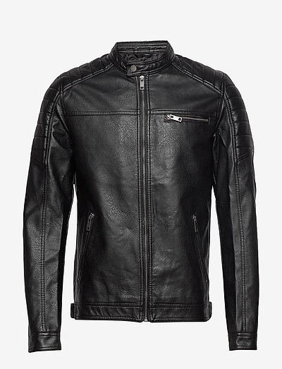 JJEROCKY JACKET - læderjakker - black